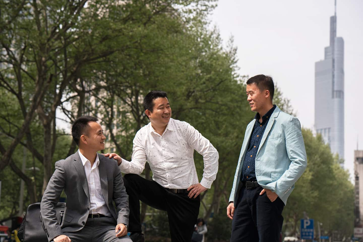 Changing life in Nanjing - Group of men